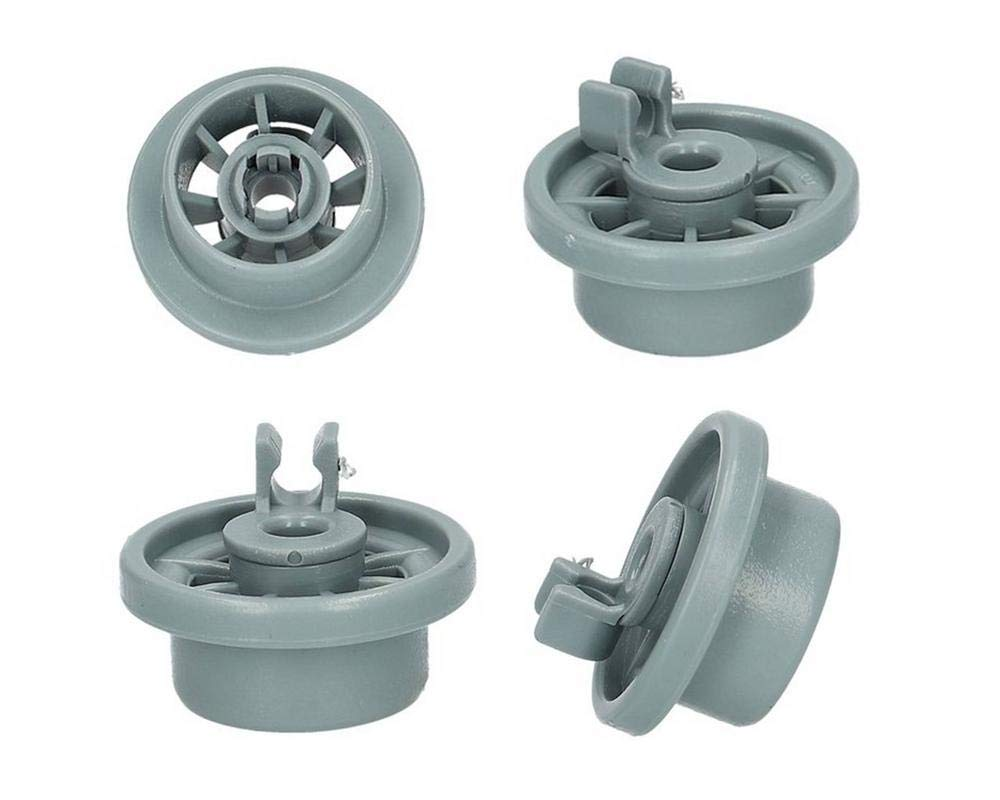 Lazer Electrics Premium Quality Lower Basket Wheel For Bosch, Neff & Siemens Dishwashers - 2 Pack