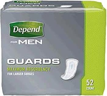 """Depend® Heavy Absorbant Guard for Men Disposable 5.5"""" X 12-125"""" BG/52"""