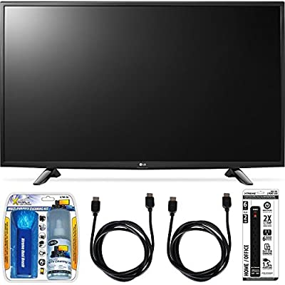 LG 49LH5700 49-Inch Full HD Smart LED TV Accessory Bundle includes TV, Screen Cleaning Kit, Power Strip with Dual USB Ports and 2 HDMI Cables