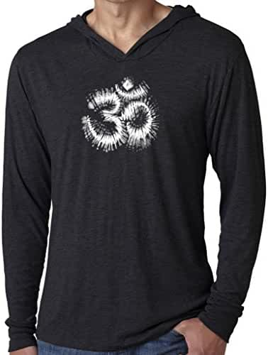 Yoga Clothing For You Mens Tie Dye OM Hoodie Tee Shirt