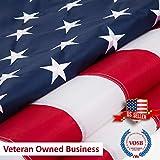 Jetlifee C American Flag Embroidered Stars Sewn Stripes Grommets Nylon US U.S.