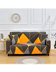 FengRise Stretch Sofa Slipcover Fashion Geometric Style All-inclusive Stretch Universal Sofa Cover Slipcover Washable Anti-Skid Stretch Soft Couch Cover For Living Room Bed Room