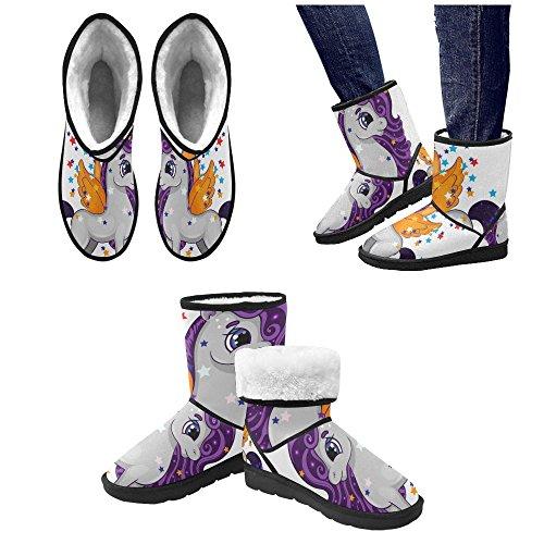 Unicorn InterestPrint Unique Women's Boots Boots Custom Snow Winter Designed xfxOSPE