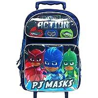 """PJ Masks 16"""" Large Rolling School Backpack Boy"""