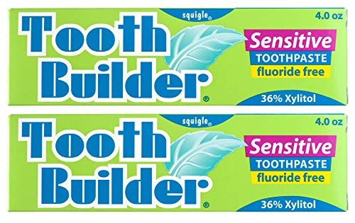 (Squigle Tooth Builder Sensitive Toothpaste - 4oz, 2 Pack)