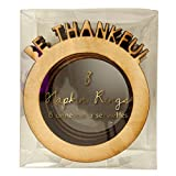 Meri Meri Be Thankful Wood Napkin Ring Set