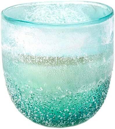 D&L Company Modern Alchemy by D.L. Pebble Glass 9Oz Sandblast Aqua, 9Oz
