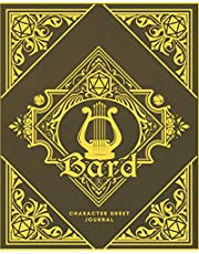 Bard Character Sheet Journal: DnD Notebook With 50 Character Pages and 100 Mixed Pages (Lined, Graph, Hex & Blank)For Role Playing Fantasy Games I Campaign Adventure Planner Gifts For RPG Players To Create Characters, Maps, Plans, Spell & More