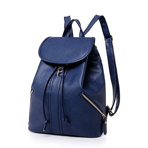 Trend Bag Fashion With Ladies Woman Leisure functional Blue Backpack Multi Shoulder qE0S6w
