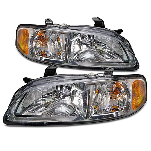 Nissan Sentra (CA, GXE, XE) Replacement Headlight Assembly (Chrome) - 1-Pair ()