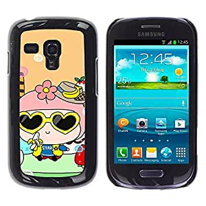 - Cute Girly Lovely - - Hard Plastic Protective Aluminum Back Case Skin Cover FOR Samsung Galaxy S3 Mini I8190 Queen Pattern