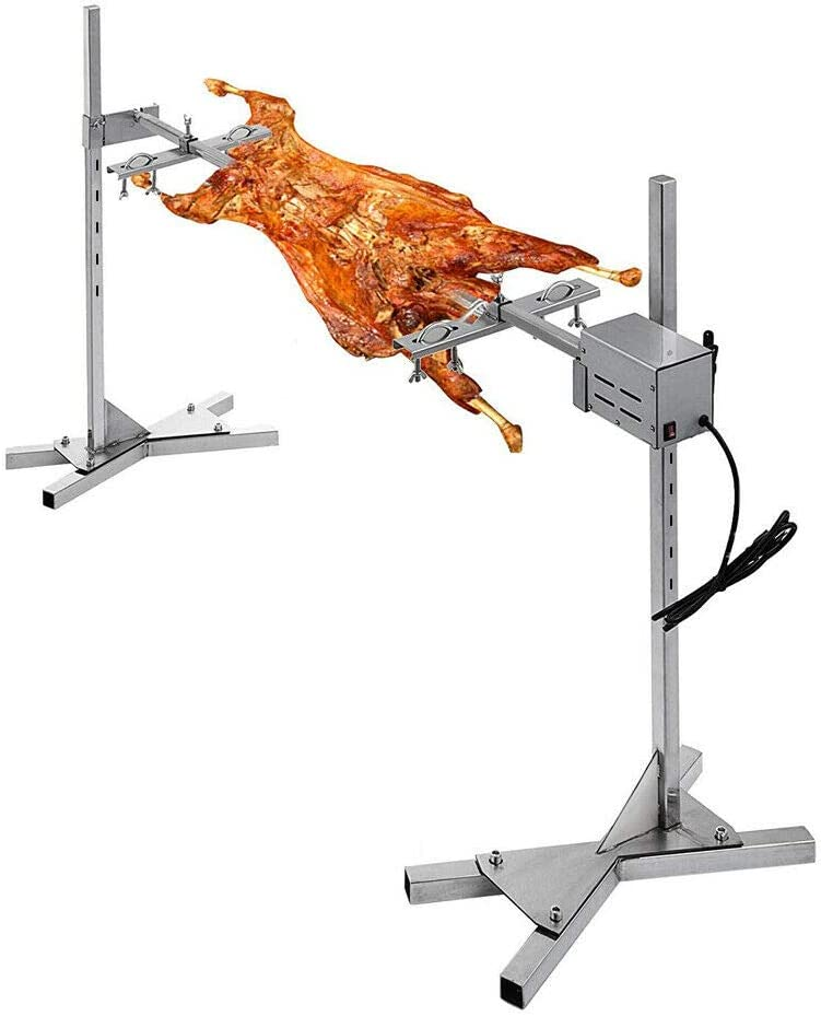 Anbt BBQ Grill Rotisserie Kit Up to 70lb Pig Spit Rotisserie Grill Heavy Duty for Pig Rotisserie Hog Lamb Outdoor Party Campfire Barbecue: Home & Kitchen