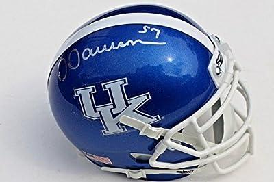 Dermontti Dawson Autographed Helmet - Kentucky Wildcats Mini w COA Proof - Autographed NFL Helmets