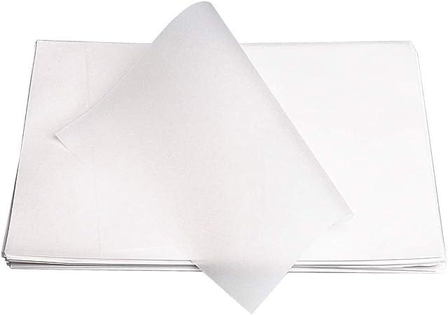 100 hojas de papel de calco A4, papel translúcido sin ácidos, papel transparente para dibujar, imprimir, diseño gráfico: Amazon.es: Hogar
