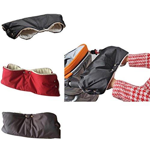 Baby Stroller Winter Waterproof Pram Hand Warm Glove(Coffee) - 8