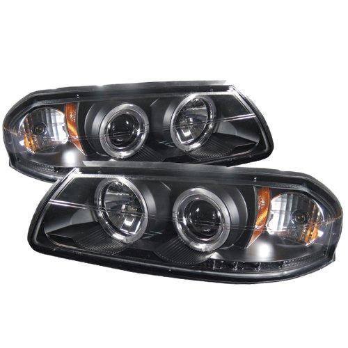 Spyder Auto Chevy Impala Black Halogen LED Projector Headlight
