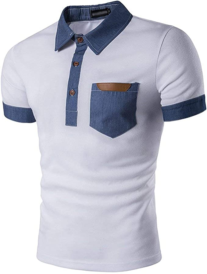 Polo De Verano con Estilo para Hombre De Básica Blusa Slim Fit ...