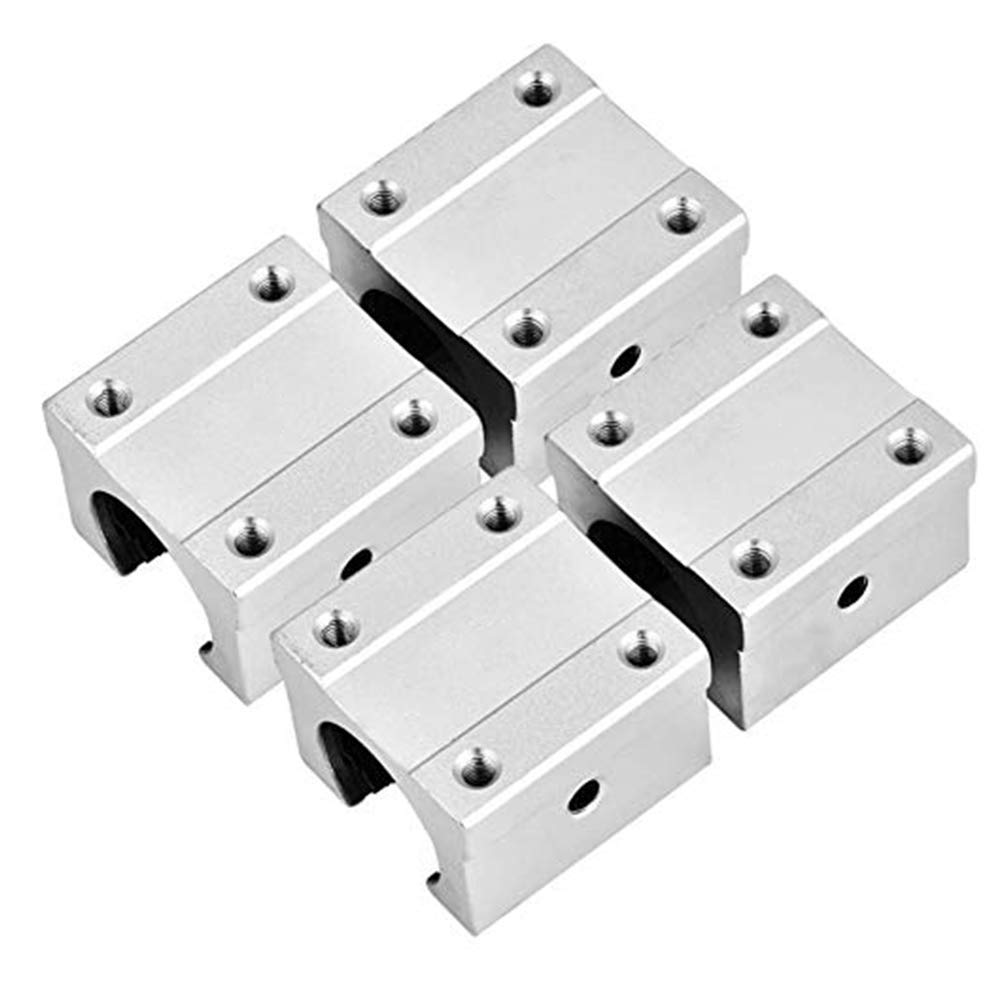Motion Bearing Solide Block Unit SBR Series 4Pcs SBR10UU Aluminum Open Linear Motion Bearing Slide Unit for SBR10 10mm Linear Guide Rail