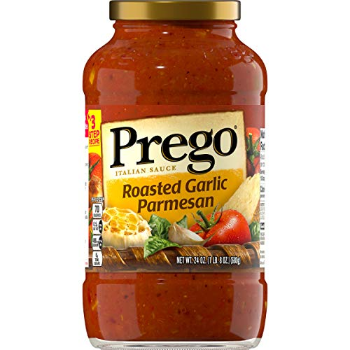 Prego Italian Pasta Sauce, Roasted Garlic Parmesan, 24 Ounce (Packaging May Vary)