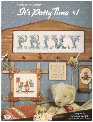 It's Potty Time 1 Cross Stitch Patterns for Bathroom Canterbury Designs