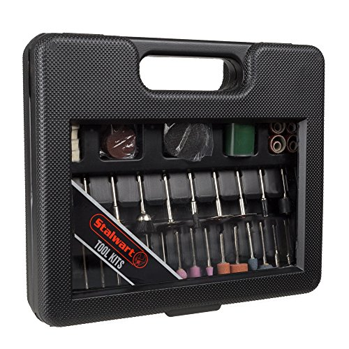Rotary Tool Attachment Kit Cut Grind Polish Sand 100 Pcs. By Stalwart by Stalwart