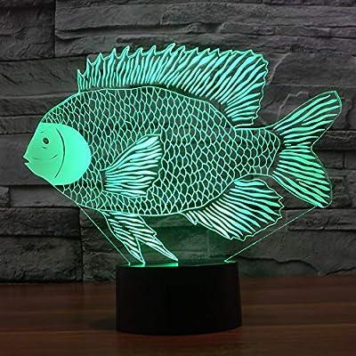 Tacto Colorido Ligero 3D de los Pescados del Papel-Corte Que Carga ...