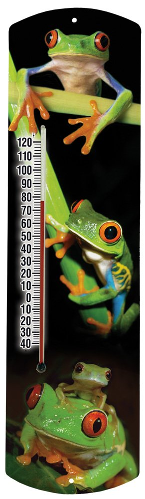 Heritage America by MORCO 375FROG Frog Outdoor or Indoor Thermometer, 20-Inch
