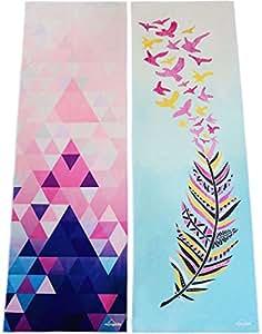 "Hot Yoga Towel by Myogalife. Beautiful Design, Extra Long (24""x72""), Extremely Absorbent, Machine Washable and Non-slip when Dampened. Perfect for Bikram, Ashtanga, Pilates, etc"
