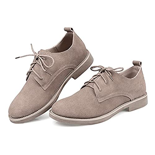 durable service Beinfaith Women's Suede Oxfords Flat Shoes Lace-ups