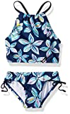 Kanu Surf Big Girls' Daisy Beach Sport Halter Tankini 2-Piece Swimsuit, Charlotte Floral Navy, 7
