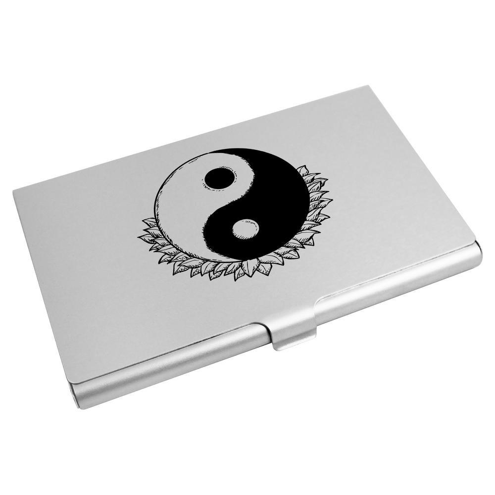 Azeeda 'Yin Yang Motiv' Visitenkartenhalter / Kreditkarte Geldbörse (CH00000270)