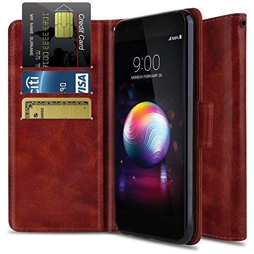 Wallet Case for LG K30/LG Premier Pro L413DL/LG Xpression Plus/LG Phoenix Plus,OTOONE [Flip Folio] Shock Proof PU Leather Wallet Protective Phone Cover with Kickstand for LG Phone 2018 (Burgundy)