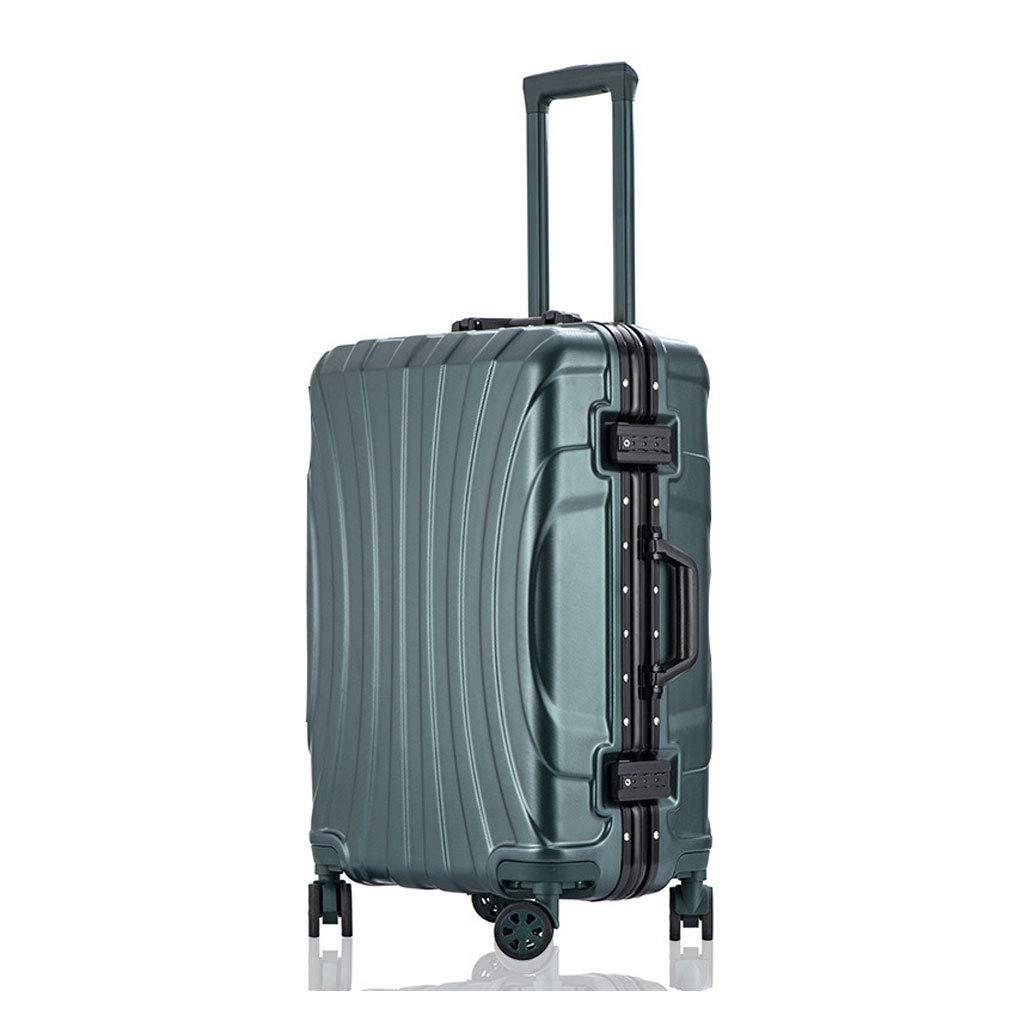 キャビントロリー超軽量ABSハードシェルトラベルキャリーハンドキャリースーツケース(4つの車輪付き)、ハードシェルトロリーサイズ 44cm*28cm*67cm  B07P7LFMFR