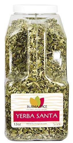 Yerba Santa : Dried Loose Leaf Herbal Tea : Sacred Herb, Holy Weed : Kosher Certified (12oz.) (Caps 100 Herbal Singles)