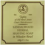 Taylor of Old Bond Street Sandalwood Shaving Soap in a Wooden Bowl, 3.5 oz.