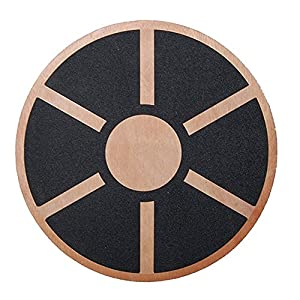 Physport Non-slip Wobble Wooden Balance Board For Exercise Fitness Trainer and Physical Therapy Rehab 360 Rotation