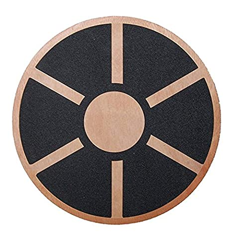 Physport Non-slip Wobble Wooden Balance Board For Exercise Fitness Trainer and Physical Therapy Rehab 360 - Wooden Balance Board