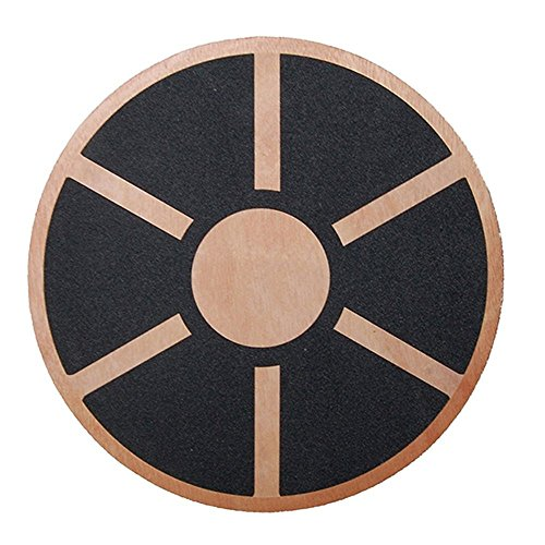 Physport Non-slip Wobble Wooden Balance Board For Exercise Fitness Trainer and Physical Therapy Rehab 360 Rotation Stand Balance Board