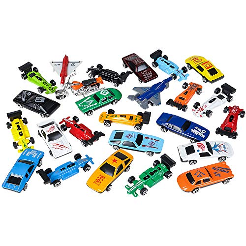 Rhode Island Novelty Turbo Racer Die Cast Car Set, 25-Piece