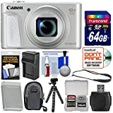 Canon PowerShot SX730 HS Wi-Fi Digital Camera (Silver) 64GB Card + Case + Battery & Charger + Tripod + Strap + Kit