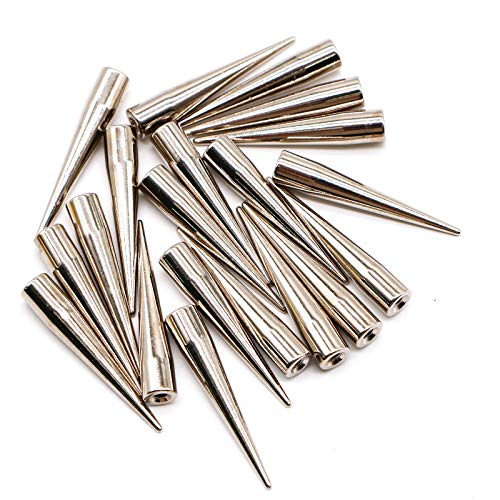 Spikes Studs (WSSROGY 20 Pcs Punk Spike Studs with Screw Back for Leather Craft,7x40 MM)