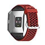 NotoCity Fitbit Ionic Watch Band,Sport Strap Soft Silicon Watch Band,for Ionic Fitbit Smartwatch Replacement Wristband Men Women