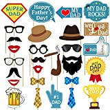 ee7db762ec27 zsnice Party Favors 23pcs Photo Booth Props and Cake Topper Father's ...