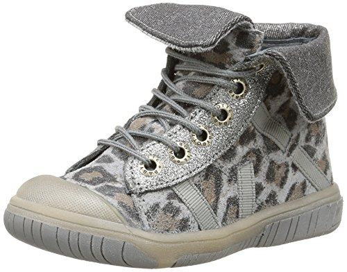 Babybotte Artiste2 - Zapatillas de Deporte de cuero niñas gris - Gris (409 Gris Panthère)