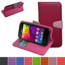 BLU life one x L0070UU 2016 Case,Mama Mouth [Stand View] Flip Stand Premium PU Leather [Wallet Case] With Slots and Pocket Cover For BLU life one x L0070UU Smartphone 2016,Rose Red
