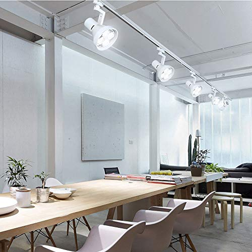 ZJⓇ Spotlight Track Light - Living Room Wall Track Lights Decorative Spotlights - Black/White - 20W/30W/40W - 4 Heads && (Color : White, Size : 20W) by ZJⓇ Spotlight (Image #2)
