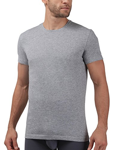 David Archy Men's 3 Pack Soft Cotton Classic Crew-neck T-shirts(S, Heather Dark - T-shirt Gray S/s Cotton