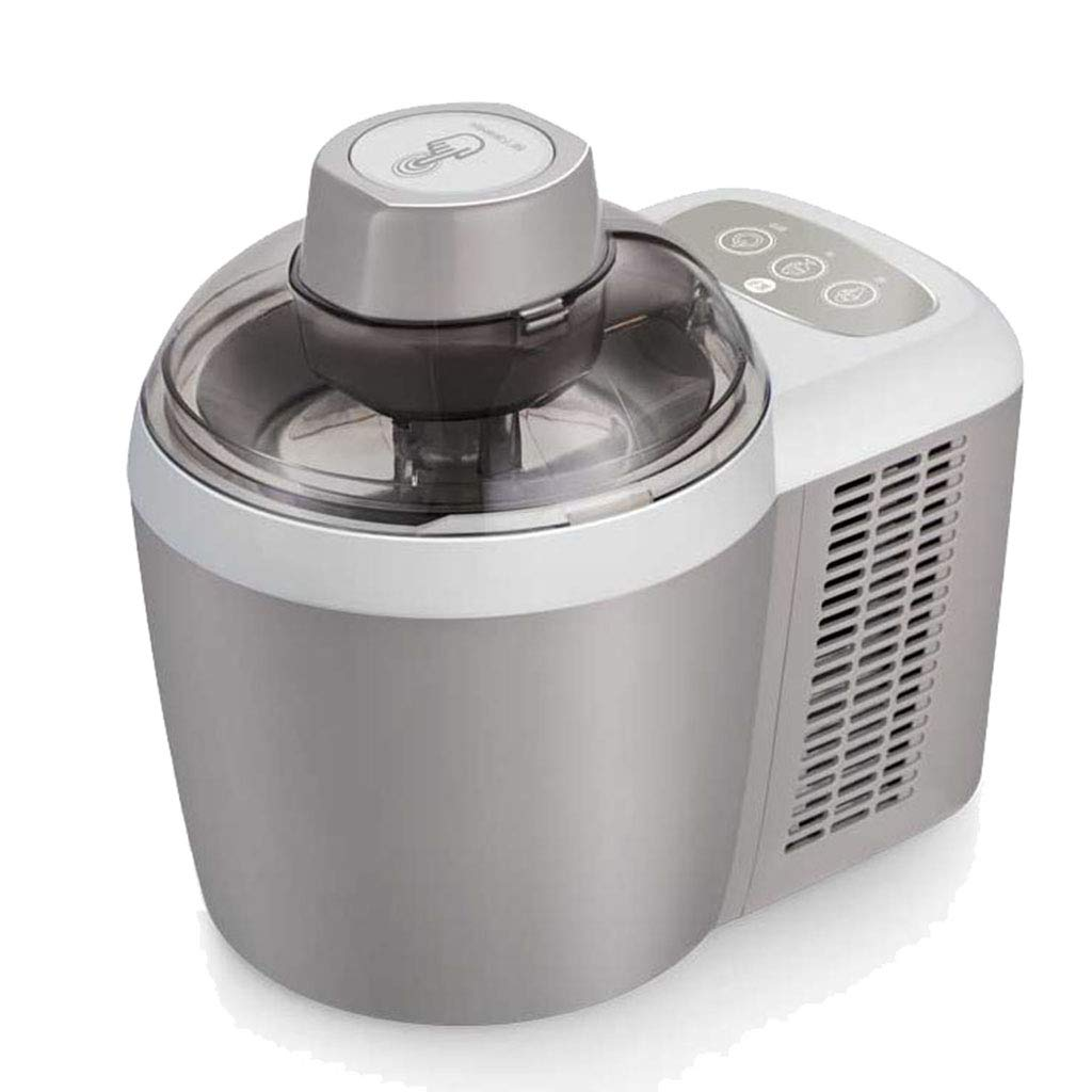 クーラー付きDIYアイスクリームメーカーマシン - 600MLの取り外し可能なミキシングパドル - 安い、ディスカウント価格おいしいソフト&ハードアイスクリーム、ジェラート、フローズンヨーグルト&シャーベットマシンになります Silver  B07QKMFPLN