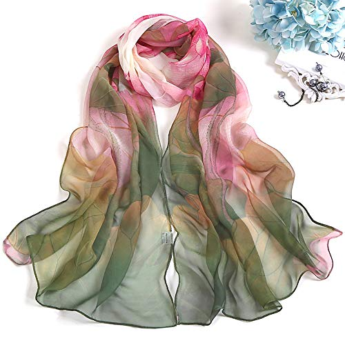 Women Scraf,Soild Dot Printing Wrap Long Lightweight Neckerchief Ladies Shawl Scarves (Green) by InMarry (Image #1)