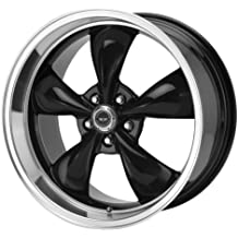 "American Racing Custom Wheels AR105 Torq Thrust M Gloss Black Wheel With Machined Lip (18x9""/5x120mm, +34mm offset)"
